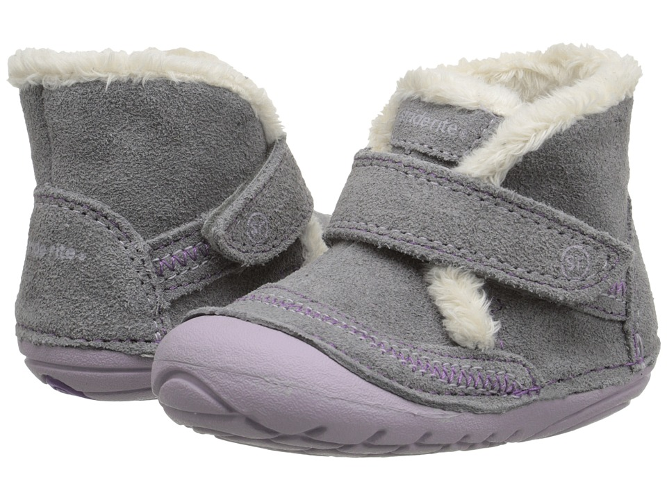 Stride Rite - SM Constance (Infant/Toddler) (Grey) Girls Shoes