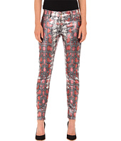Just Cavalli - Shiny Snake Print Skinny Denim