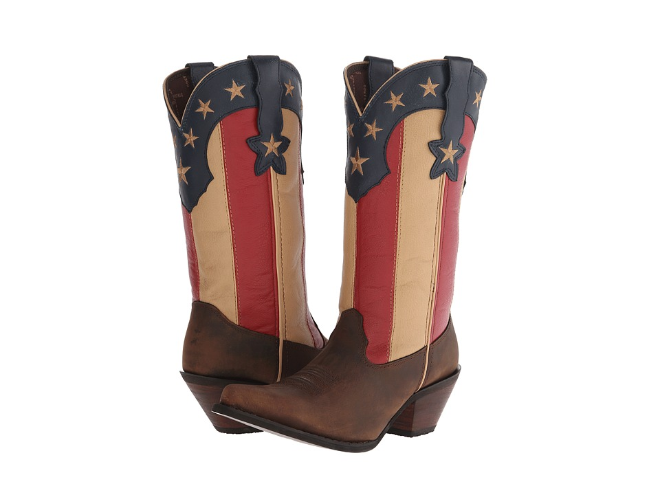 Durango Crush 12 Stars and Stripes Dark Brown/Union Flag Cowboy Boots