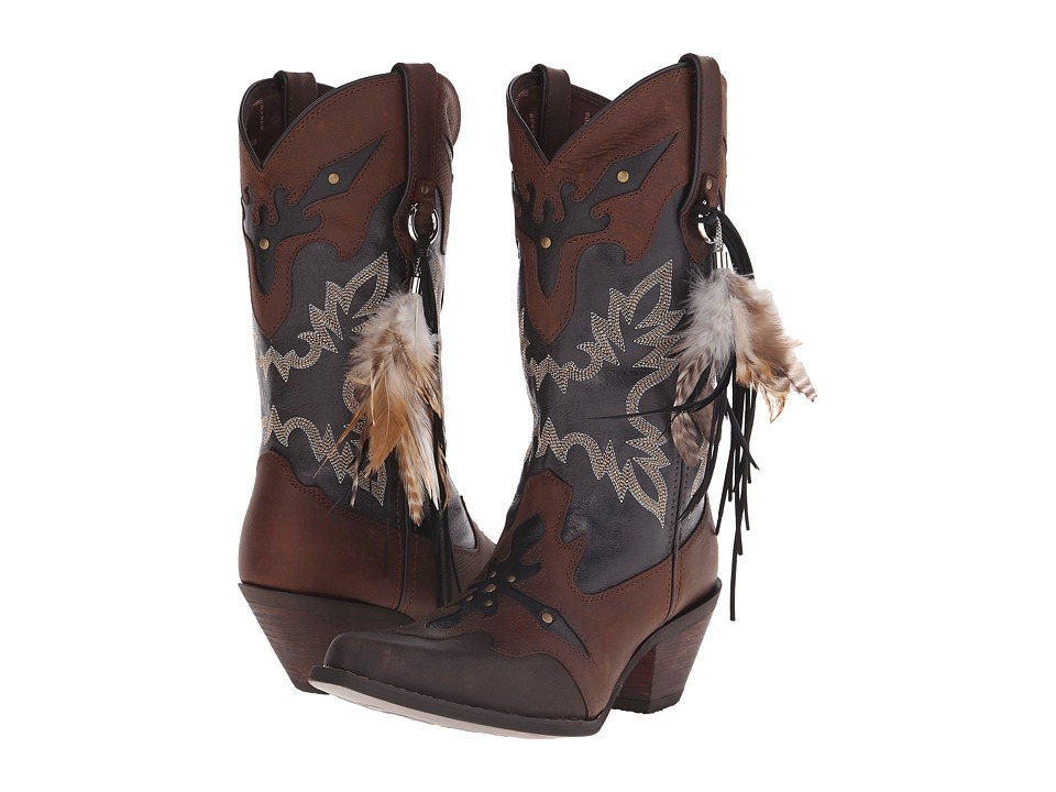 Durango Crush 12 w/ Feather Brown/Black Cowboy Boots