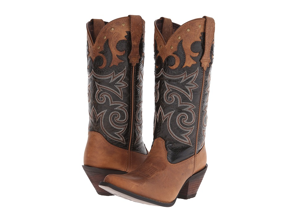Durango Crush 12 Underlay w/ Tooling Distressed Brown Cowboy Boots