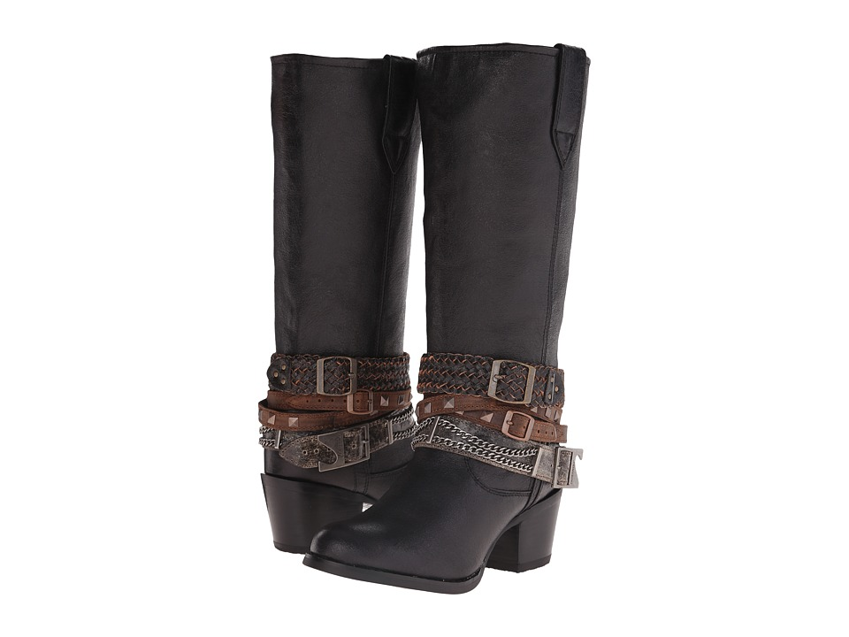 Durango - Philly 14 w/ Detachable Ankle Straps (Black) Cowboy Boots