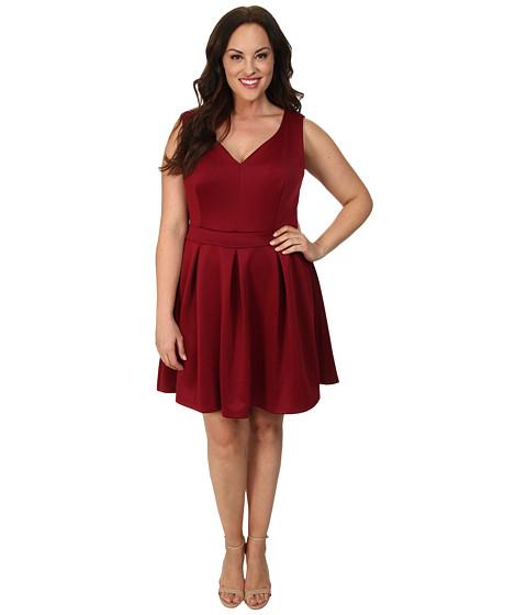 Alejandra Sky Plus Size Gracie Dress (Maroon) Women's Dress