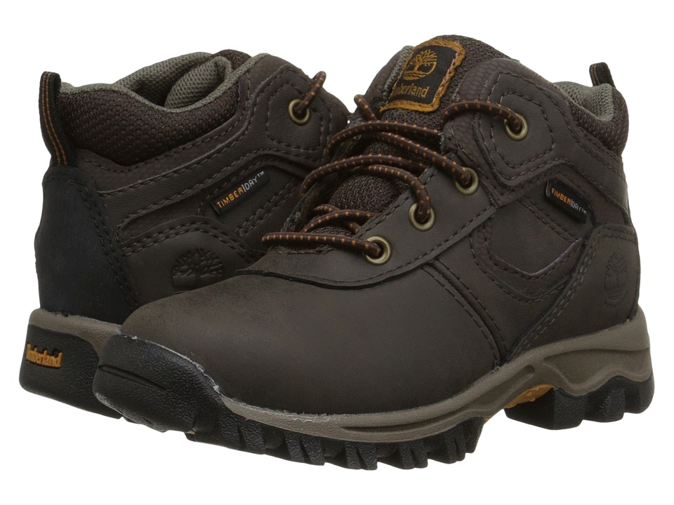 Timberland Kids Mt. Maddsen Mid Waterproof (Toddler/Little Kid) (Dark Brown) Boys Shoes
