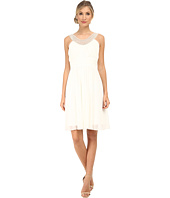 Alejandra Sky - Crystal Pearl Neckline Short Dress