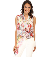 Karen Kane - Watercolor Asymmetrical Hem Top