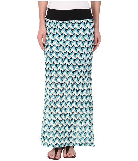 crochet maxi skirt multicolor 6pm