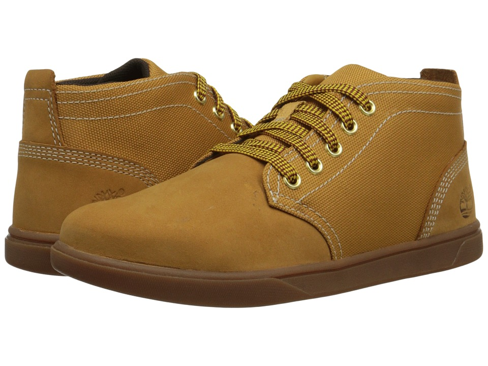 Timberland Kids - Groveton Chukka Leather and Fabric (Big Kid) (Wheat) Boys Shoes