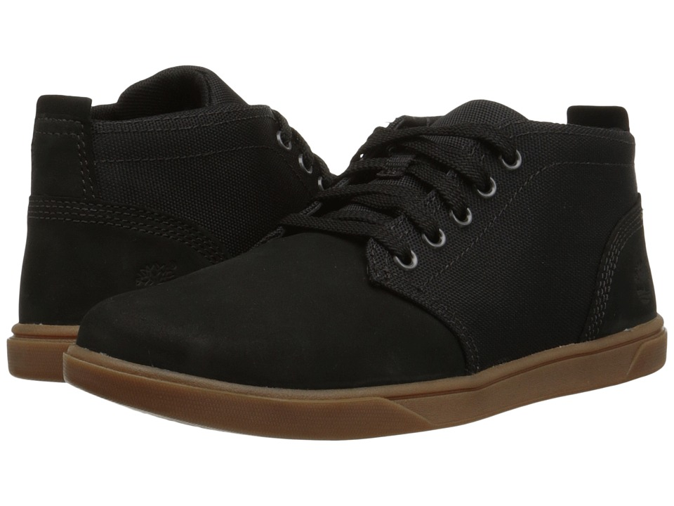 Timberland Kids - Groveton Chukka Leather and Fabric (Big Kid) (Black) Boys Shoes