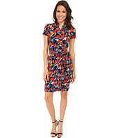 Karen Kane - Paint Print Cascade Wrap Dress