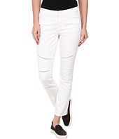 DKNY Jeans - Ladder Lace Ave B Ultra Skinny Crop Moto in White
