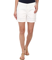 DKNY Jeans - Ladder Lace Denim Moto Shorts in White