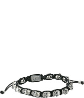 King Baby Studio - Black Macrame Bracelet w/ Alloy Skulls