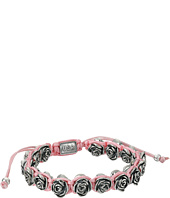 King Baby Studio - Pink Macrame Bracelet w/ Alloy Roses