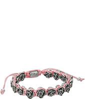 King Baby Studio - Pink Macrame Bracelet w/ Alloy Roses