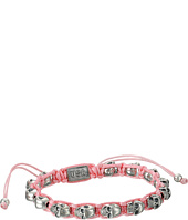 King Baby Studio - Pink Macrame Bracelet w/ Alloy Skulls