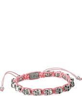 King Baby Studio - Pink Macrame Bracelet w/ Alloy Skulls