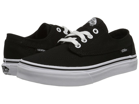 Vans Kids Brigata (Little Kid/Big Kid) - Black/True White