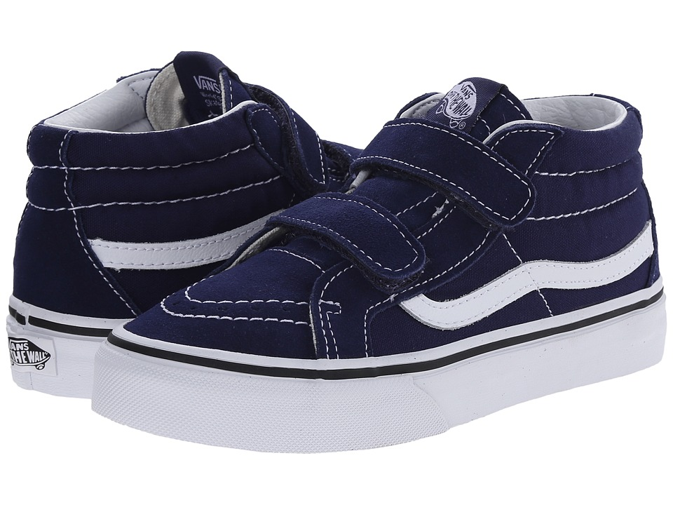 Vans Kids SK8-Mid Reissue V (Little Kid/Big Kid) (Patriot Blue/True White) Kids Shoes