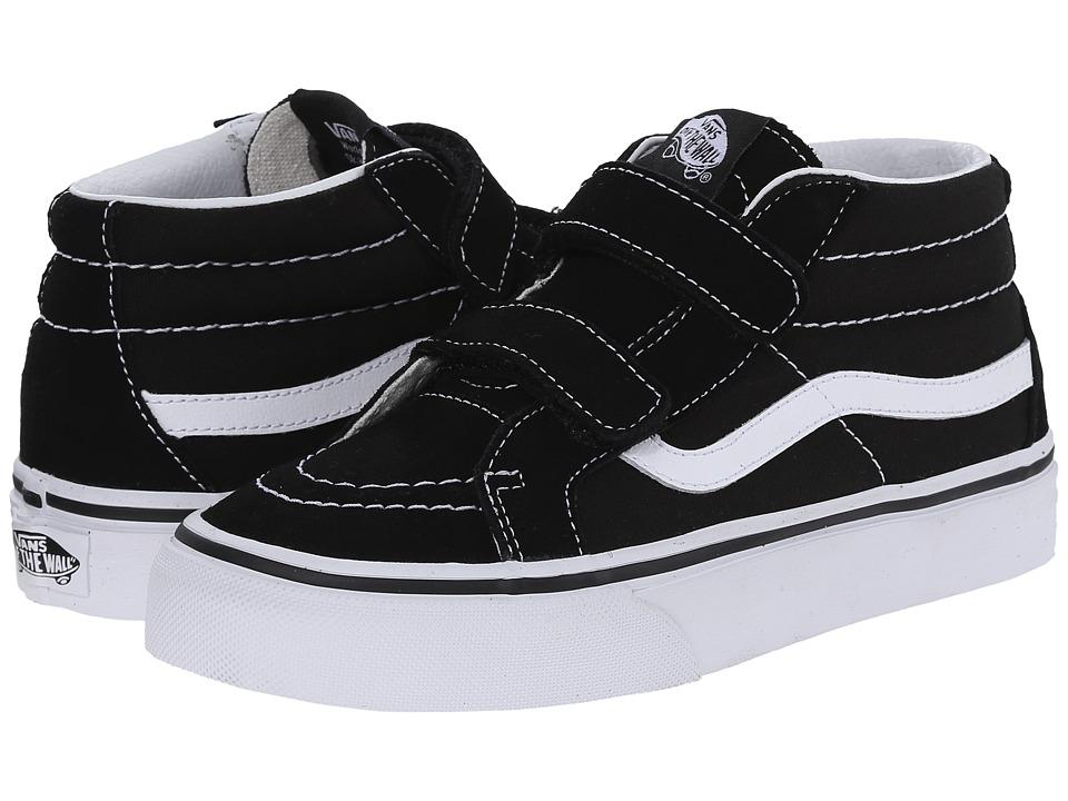 Vans Kids SK8-Mid Reissue V (Little Kid/Big Kid) (Black/True White) Kids Shoes