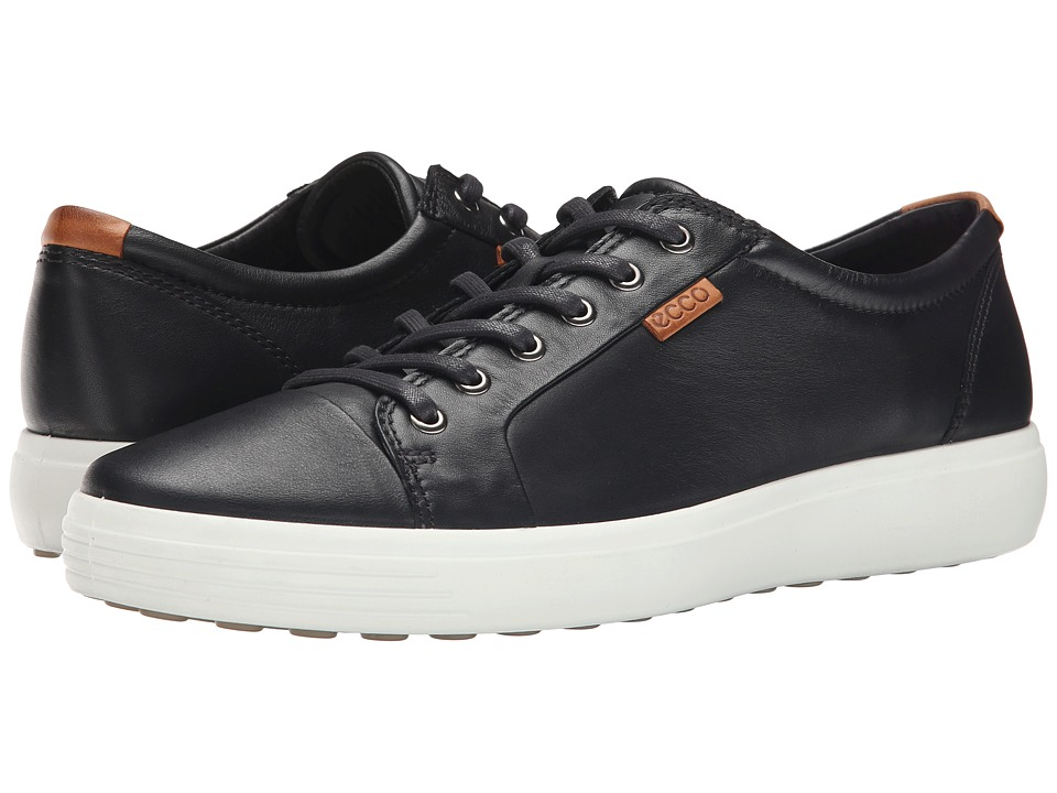 ECCO Soft VII Sneaker (Black/Lion) Men