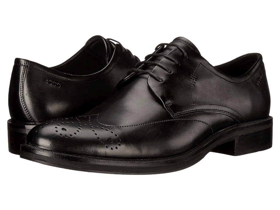 ECCO Henley Tie Black Mens Shoes