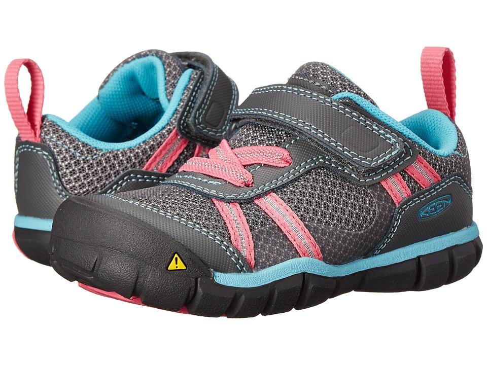 Keen Kids Monica CNX (Toddler/Little Kid) (Gargoyle/Camellia Rose) Girls Shoes