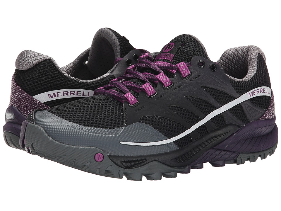 Merrell - All Out Charge (Black/Wild Plum) Womens Running Shoes
