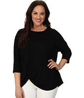 Karen Kane Plus - Plus Size 3/4 Sleeve Pick Up Top