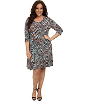Karen Kane Plus - Plus Size 3/4 Sleeve Dress