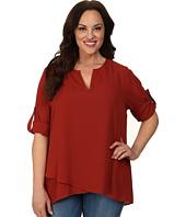 Karen Kane Plus - Plus Size Asymmetrical Hem Wrap Top 1L25234W
