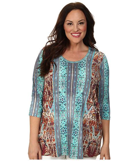 Karen Kane Plus Plus Size Baja Tee (Print) Women's T Shirt