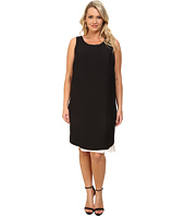 DKNYC - Plus Size Modern Crepe Chiffon Double Layer Dress