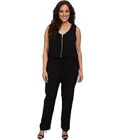 Karen Kane Plus - Plus Size Zip Front Jumpsuit