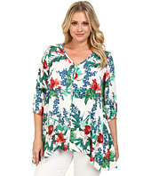 Karen Kane Plus - Plus Size Tropical Handkerchief Top