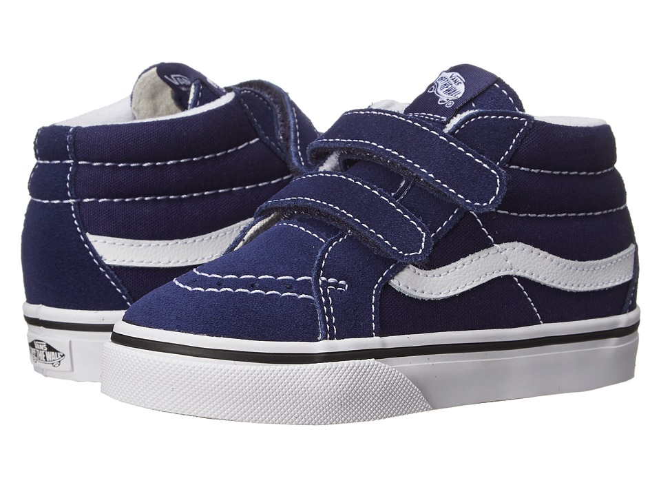 Vans Kids SK8 Mid Reissue V (Toddler) (Patriot Blue/True White) Kids Shoes