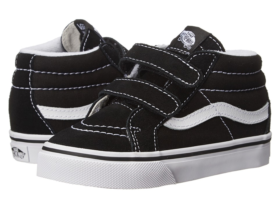 Vans Kids SK8 Mid Reissue V (Toddler) (Black/True White) Kids Shoes