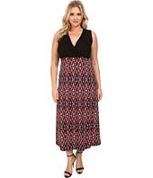 Karen Kane Plus - Plus Size Print Maxi Tank Dress
