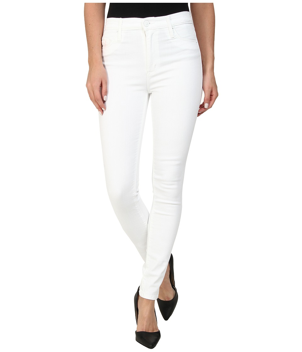 Hudson Barbara High Waist Skinny in White White Womens Jeans