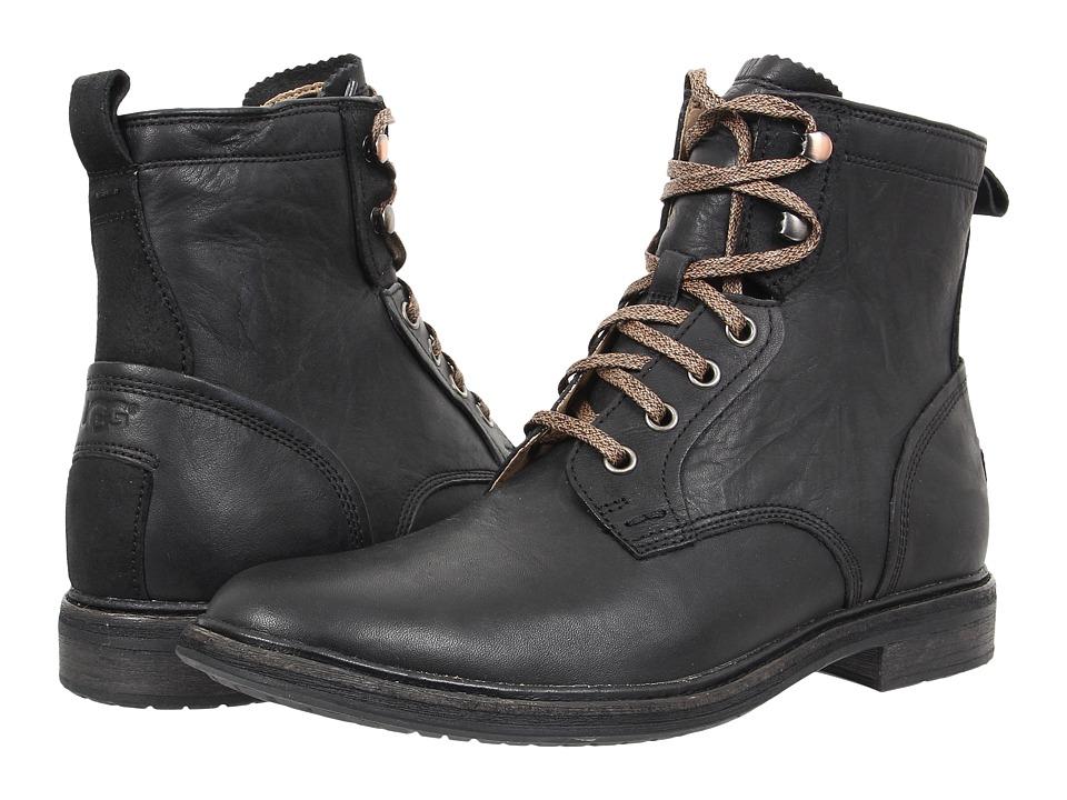 UGG Selwood (Black Leather) Men