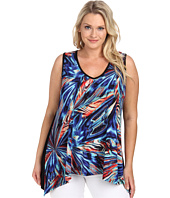 Karen Kane Plus - Plus Size Miami Mirage V-Neck Tank Top