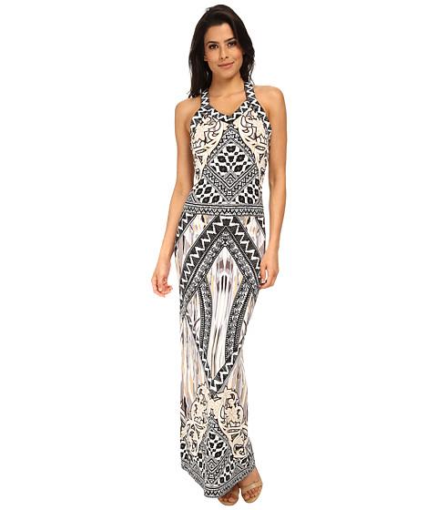 Hale Bob - Sandstorm Sophisticate Reversible Maxi Dress (Gray) Women's Dress