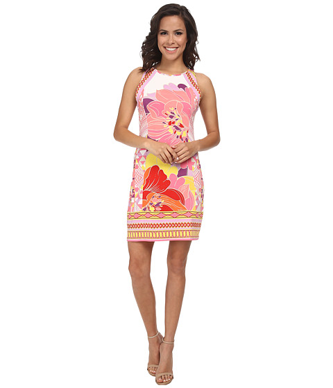 Hale Bob - Flower Fantasy Sleeveless Dress (Pink) Women's Dress