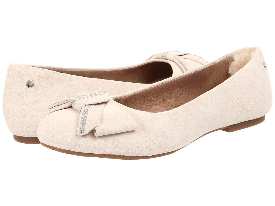 UGG - Jacqueline Fresh Snow Suede Womens Flat Shoes $129.95 AT vintagedancer.com