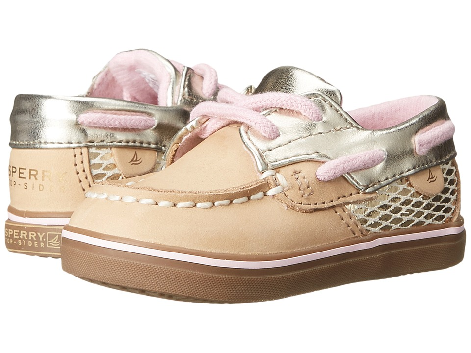 Sperry Top-Sider Kids - Bluefish Crib (Infant/Toddler) (Silver Cloud/Gold) Girls Shoes