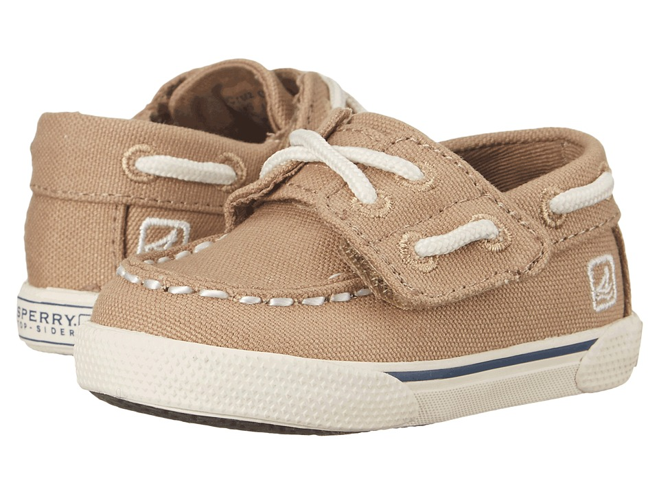 Sperry Top-Sider Kids - Cruz Crib Jr. (Infant/Toddler) (Khaki) Boys Shoes