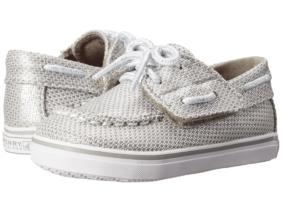 Sperry Top Sider Kids Bahama Crib Jr. Infant/Toddler Silver Girls Shoes