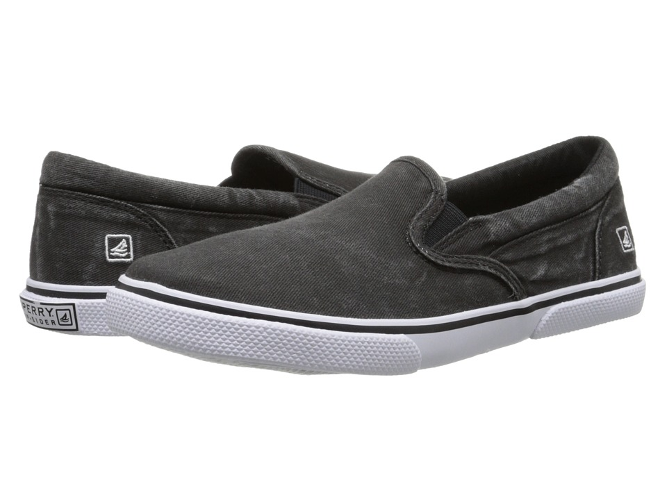 Sperry Top-Sider Kids - Halyard Slip-On (Little Kid/Big Kid) (Black) Boys Shoes