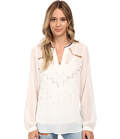 Hale Bob - Oasis In The City Long Sleeve Blouse w/ Cut Outs