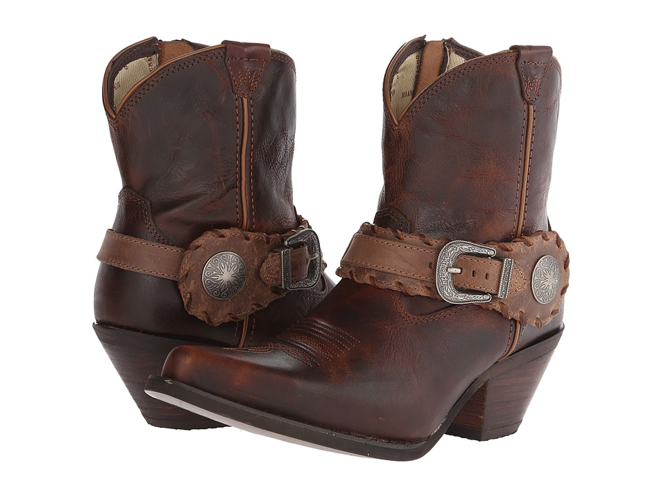 Durango - Crush 7 Spur Strap (Brown) Cowboy Boots